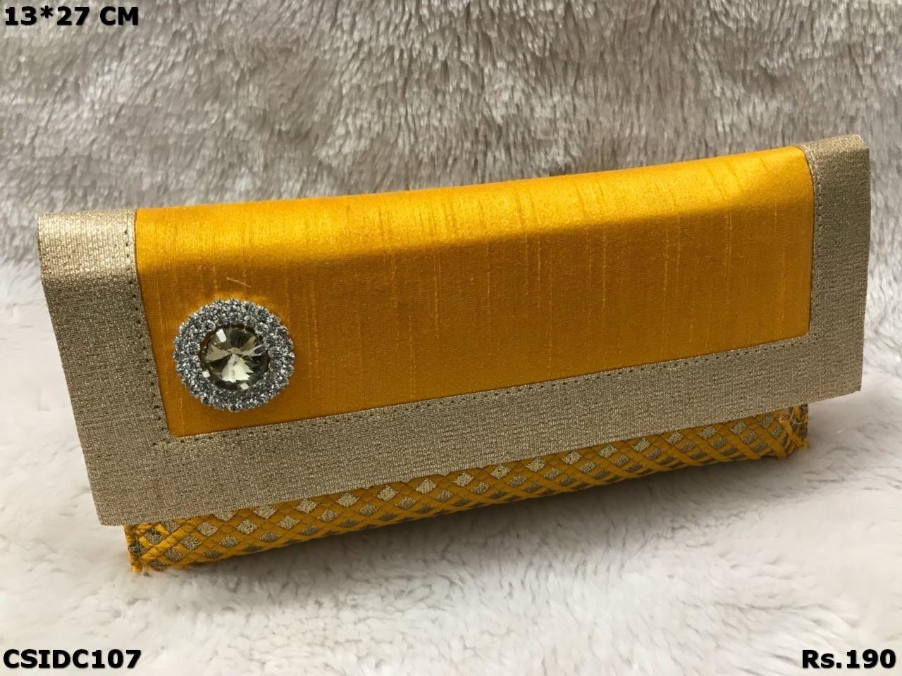 brocade Raw Silk Clutch