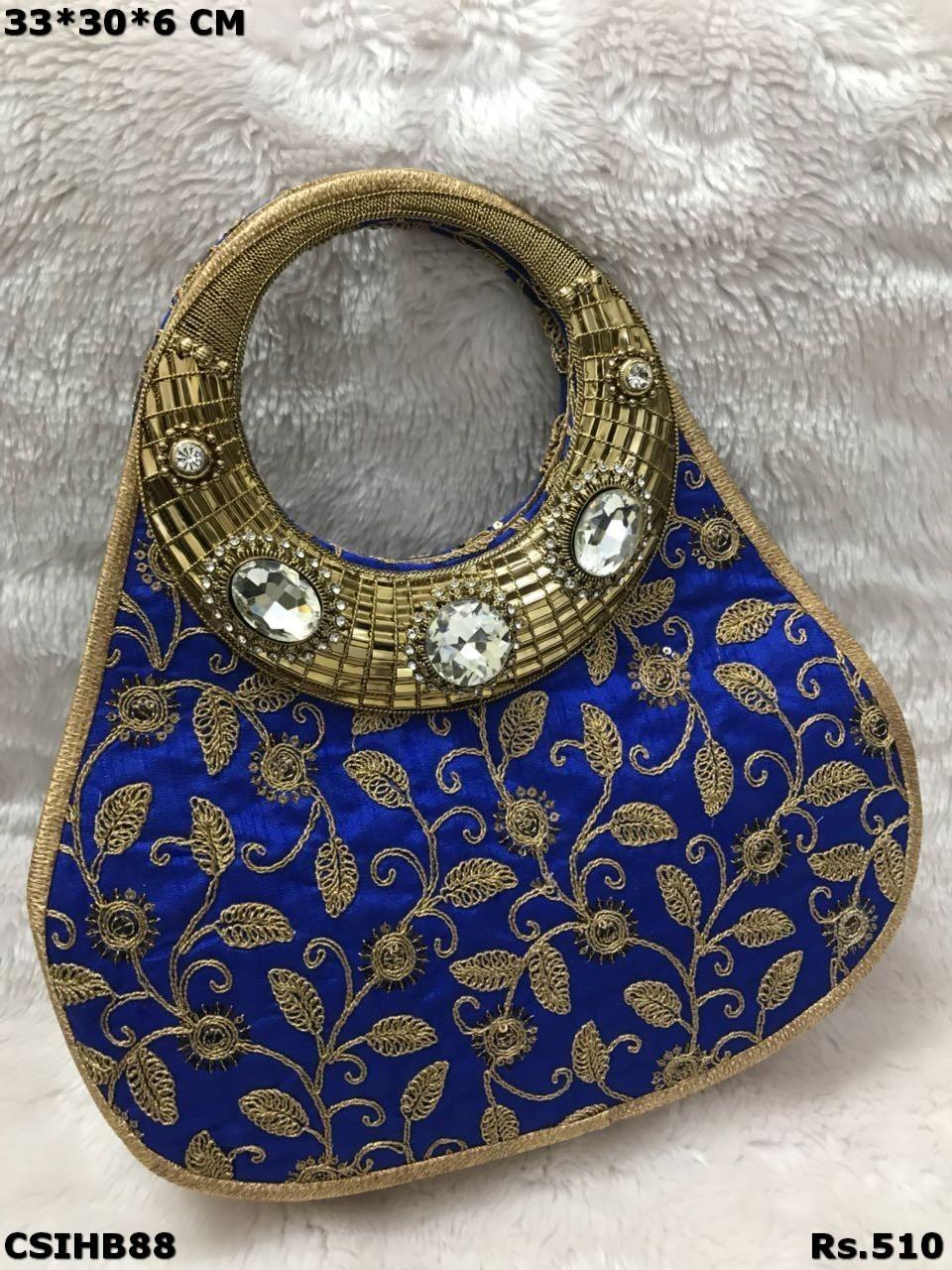 Embroidered Stone Work  Handbag