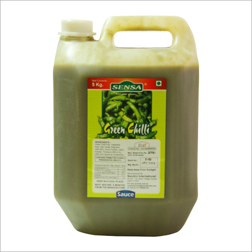 5 Ltr Green Chilli Sauce
