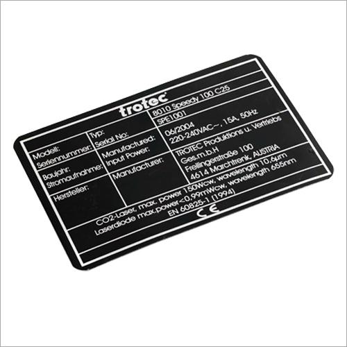 Aluminium Nameplate Laser Marking Service