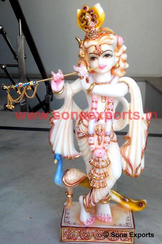 Marble Lord Krishna Moorti supplier Jaipur