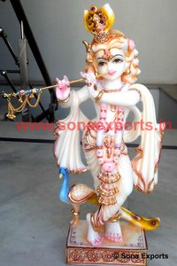 Marble Lord Krishna Moorti supplier Jaipur