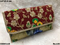 Embroidered Colourful Clutch