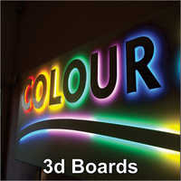 3D Signage Board