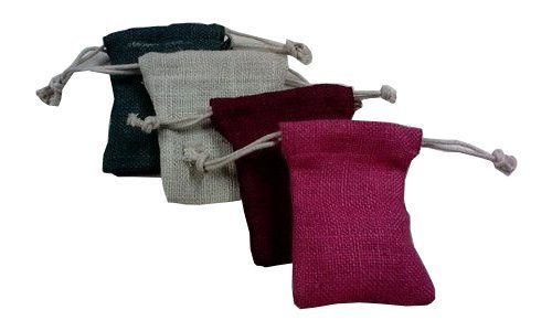 Colorful Jute Pouch