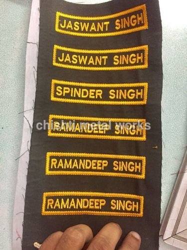 Embroidery Name Plate