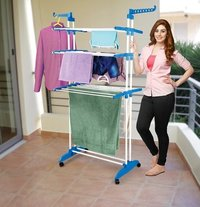 Rack Hanger with Wheels for Drying Clothes