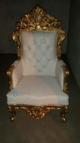 Hand carved gold finish chair