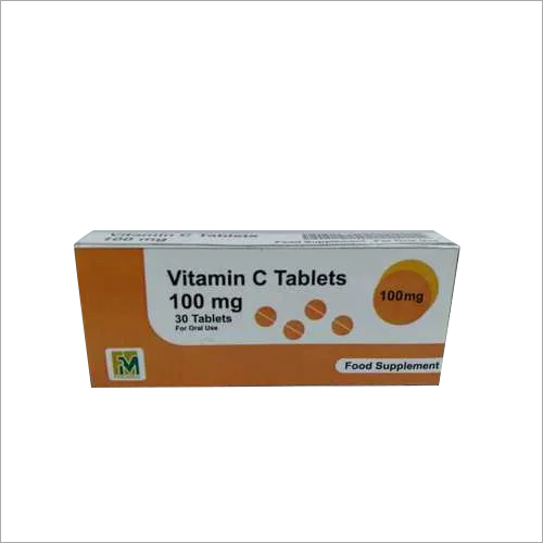 Vitamin C 100mg tablet (Ascorbic Acid).