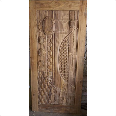 3d Sagwan Real Wood Door