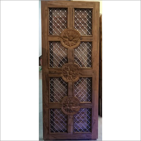 Original Sagwan Wood Jali Door
