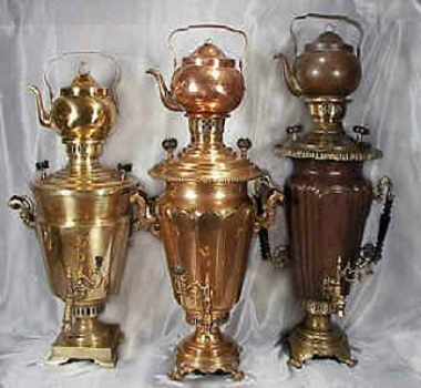 Rare Antique Imperial Indian Samovars