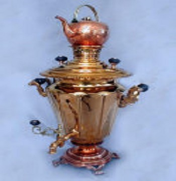 Red Tombak Bronze Samovar