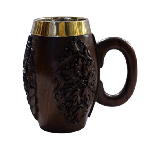 Wooden Carved Beer Mug