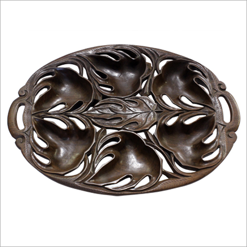Wooden Carved Fruit Bowl