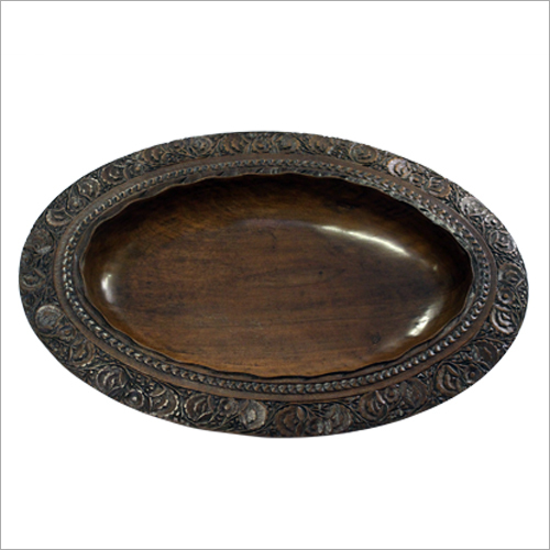 Decorative Wooden Carved Fruit Bowl