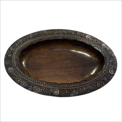 Decorative Wooden Carved Fruit Bowl
