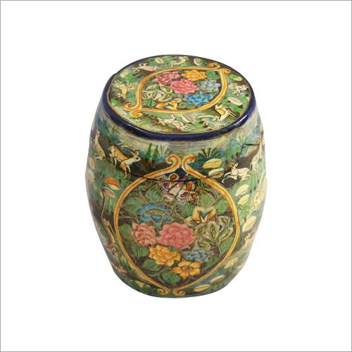 Designer Wooden Carved Jar