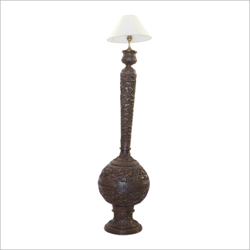 Wooden Carved Gilt Floor Lamp