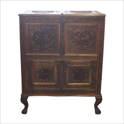 Wooden Carved Wine Cabinet