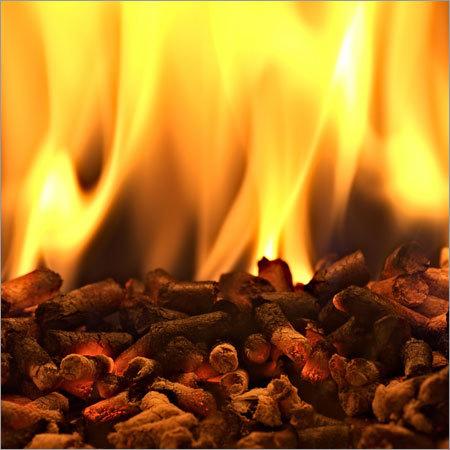 Burning Biomass Pellets