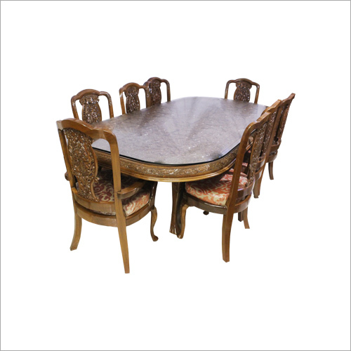 Wooden Carved Dinning Table