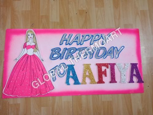 Birthday Thermocol Board