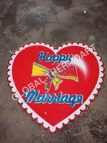 Happy Marriage Thermocole Heart