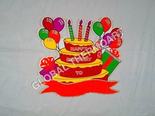 Thermocol Birthday Cake