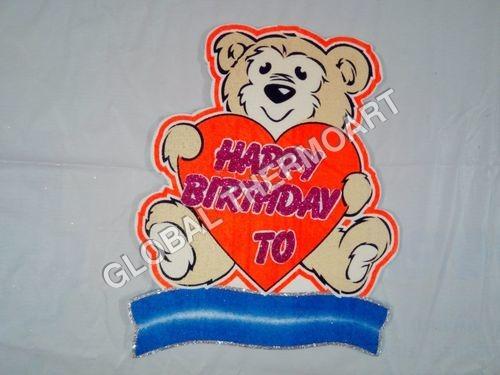 Thermocol Birthday Board