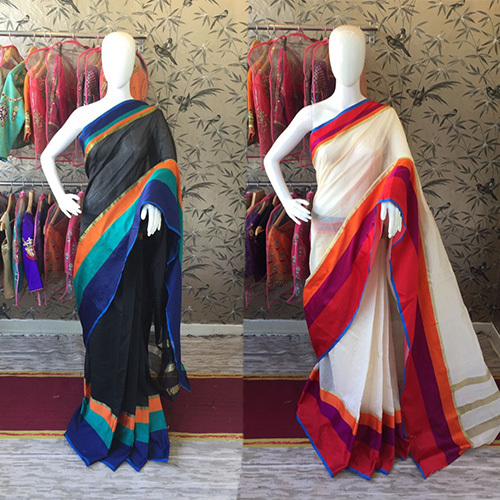 Colorful Cotton Silk Saree
