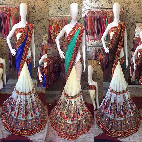 Kutchi Work Saree