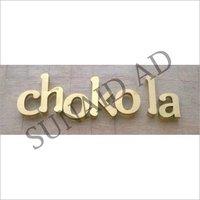 3D Brass Letter