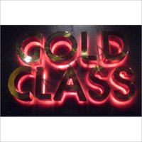 LED Brass Letter Signage Board