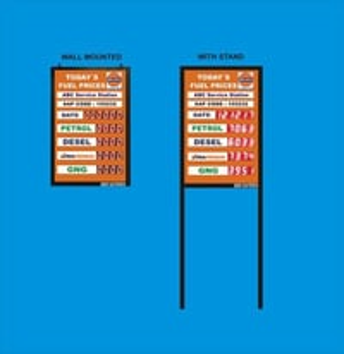Display Fuel Price Board