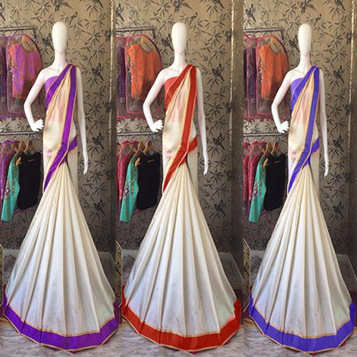 Cotton Silk Saree With Border