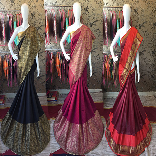 Golden Self Designer Saree