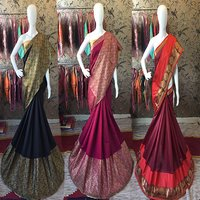 Golden Self Designer Saree
