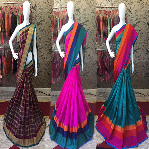 Rich Colourfull cotton silk Saree