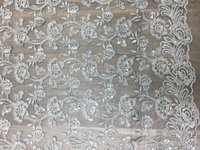 Designer Embroidered Net Fabric