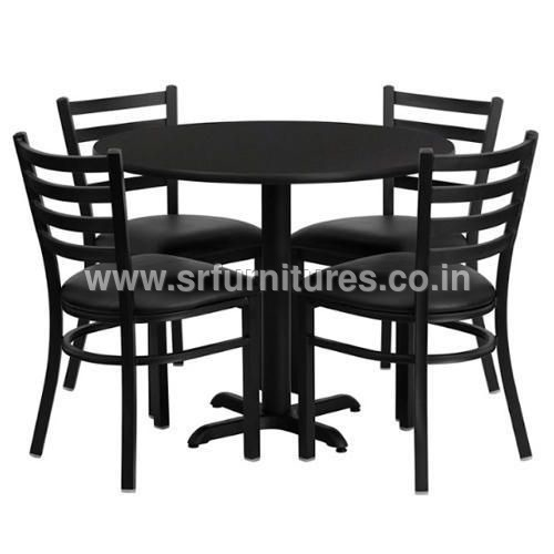 Four Sitting Round Dining Table