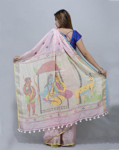Linen Jamdani Saree