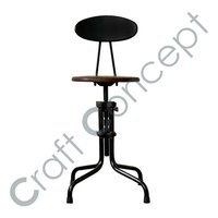 ROUND BAR CHAIR WITH BACK