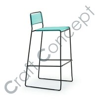 BLUE SEAT IRON BAR CHAIR