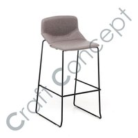 GREY SEAT IRON BAR CHAIR