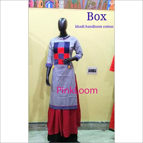Khadi Handloom Cotton Deigner Ladies Kurtis