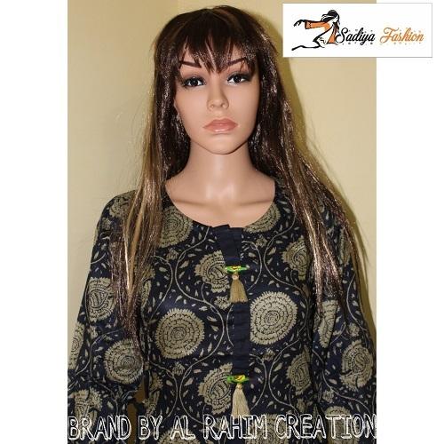 Rayon black and gray kurti