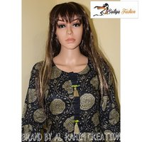 Rayon black and gray kurti