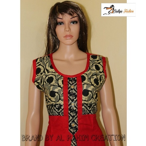 Rayon cotton Sleevless kurti