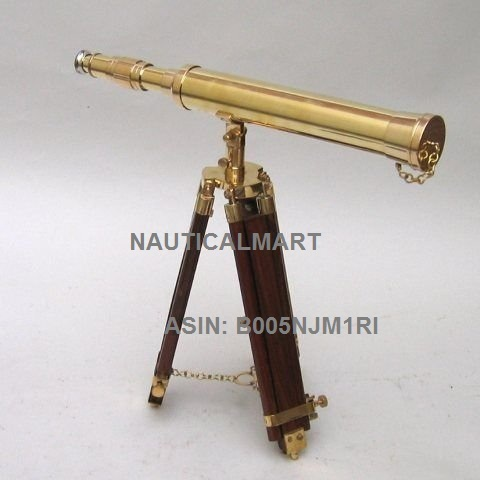 REAL SIMPLE...A HANDTOOLED HANDCRAFTED BRASS TELESCOPE AND TRIPOD!!